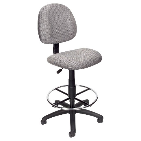 Drafting Stool with Footring Gray - Boss Office Products - image 1 of 2
