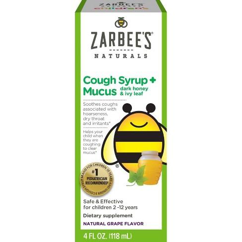 Zarbee's Naturals Children's Cough & Mucus Reducer Syrup - Natural Grape -  4 Fl Oz : Target