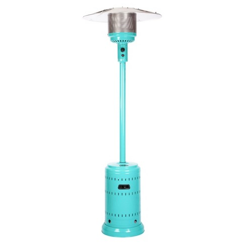 Aqua Blue Powder Coated Patio Heater - Fire Sense - image 1 of 4