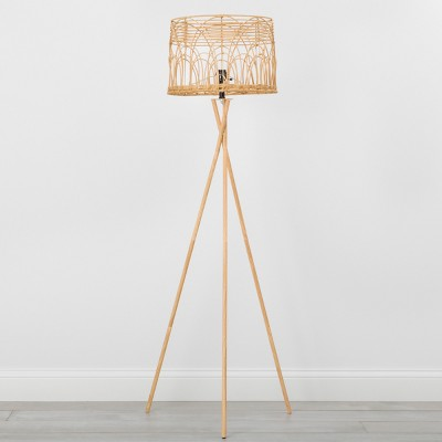 Rattan Tripod Floor Light Natural - Opalhouse™