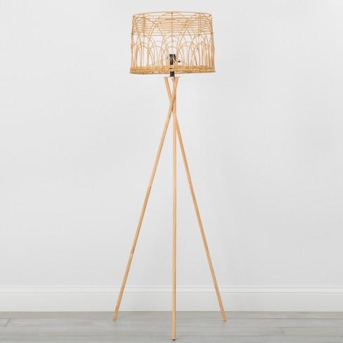 Rattan Tripod Floor Lamp Natural - Opalhouse™ - image 1 of 4