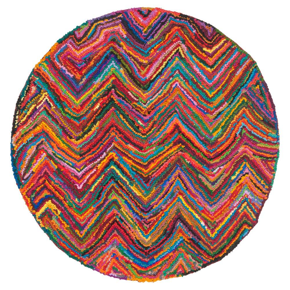 Morgan Area Rug - Pink/Multi (8'x8' Round) - Safavieh, Pink/Multi-Colored