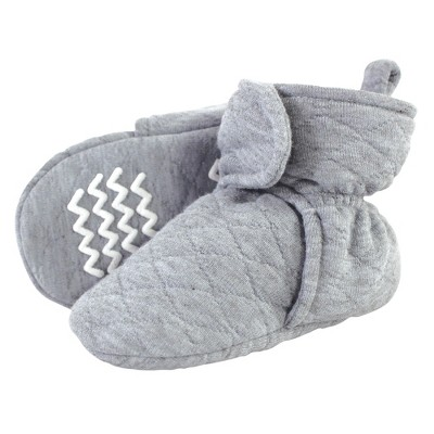 Hudson Baby Baby and Toddler Quilted Booties, Heather Gray