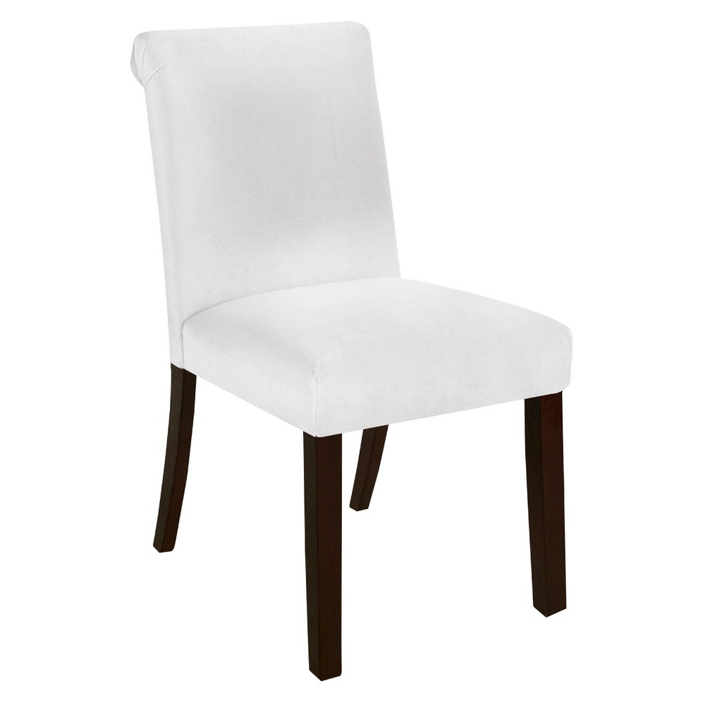 Skyline Rollback Velvet Dining Chair - Skyline Furniture, White
