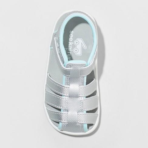 4e1e4d79f63f Toddler Girls  See Kai Run Basics Posey Fisherman Sandals - Silver. Shop  all See Kai Run Basics