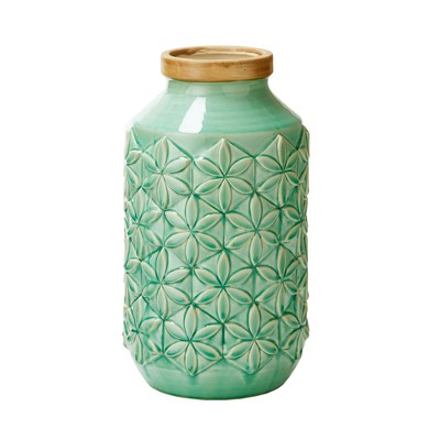 Ceramic Decorative Vase Large - Aqua