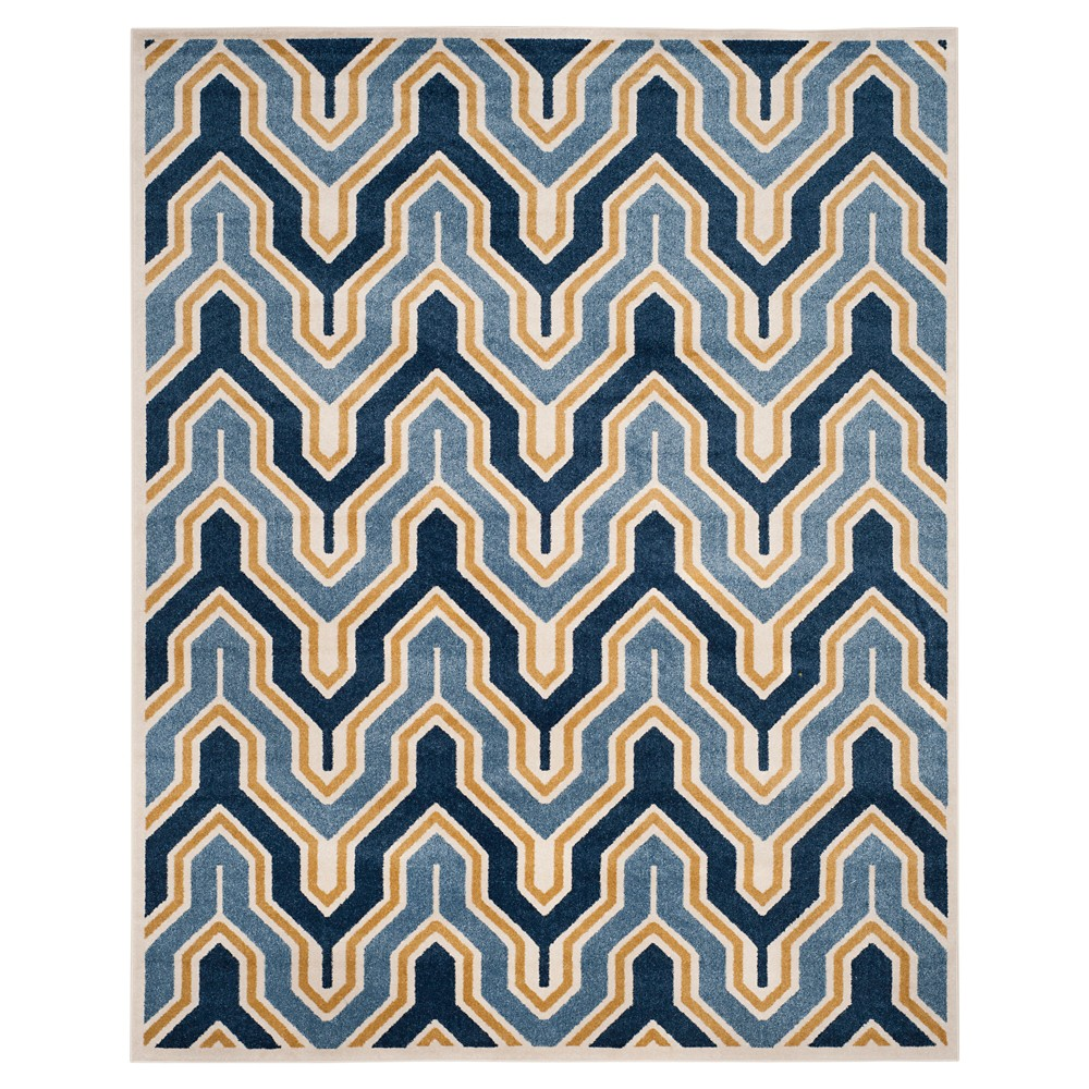Ivory/Gold Abstract Loomed Area Rug - (9'x12') - Safavieh, White