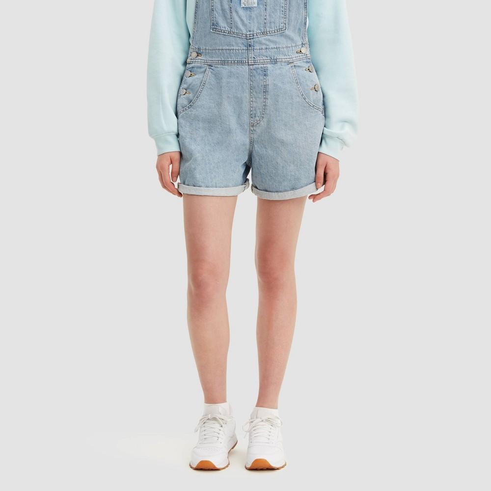 Levi 39 S 174 Women 39 S Vintage Shortalls Jean Shorts Light Wash S