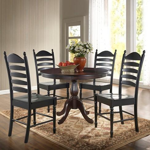 Salem 42 Round Pedestal Dining Table Espresso Carolina Chair Target