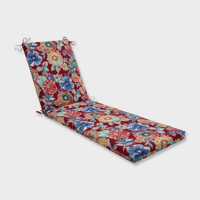 """80"""" x 23"""" x 3"""" Colsen Berry Chaise Lounge Outdoor Cushion Red - Pillow Perfect"""
