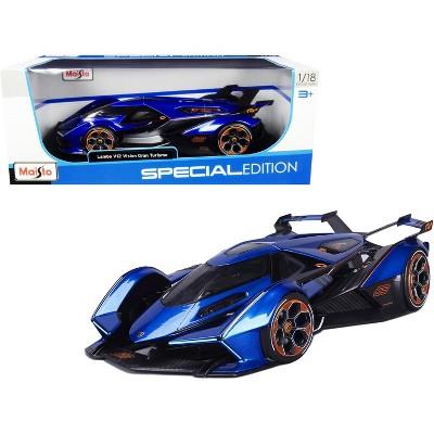 Lamborghini V12 Vision Gran Turismo Blue Metallic 1/18 Diecast Model Car by Maisto