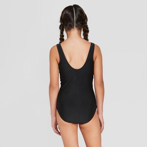 9c04392028dda Girls  Believe In Mermaids One Piece Swimsuit - Art Class™ Black   Target