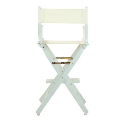 Wheat/Natural Bar Height Director's Chair-White, Wheat/Naural
