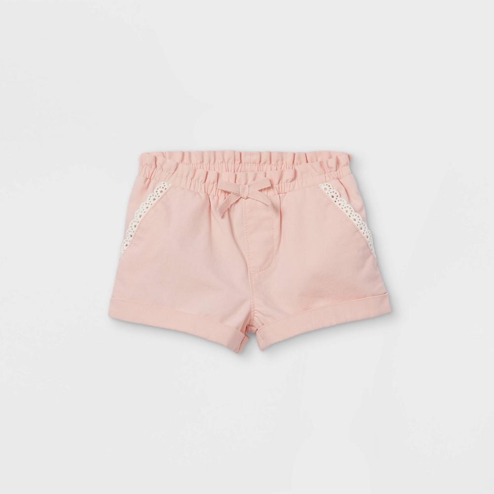 Oshkosh B 39 Gosh Toddler Girls 39 Woven Pull On Shorts Pink 5t