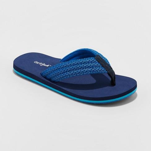 Boys' Gary Flip Flop Sandals - Cat & Jack™ Navy - image 1 of 3