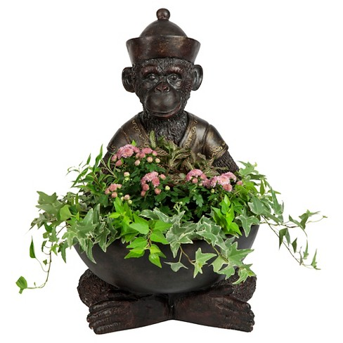 Outdoors Gallant Monkey Planter - Antique Brass - Bombay Outdoors - image 1 of 5