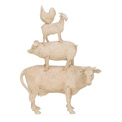 Decorative Farm Animal Set - White - Olivia & May