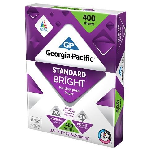 georgia pacific printer paper letter size 20lb standard bright target