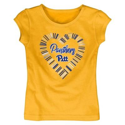 NCAA Pitt Panthers Toddler Girls' Short Sleeve Crew Neck T-Shirt
