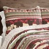 3pc Lodge Quilt Set Red/Brown - Lush Decor - image 3 of 4