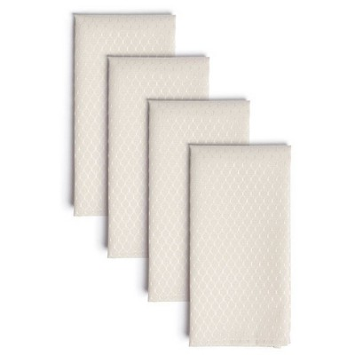 "4pk 20""X20"" Mckenna Napkins Cream - Town & Country Living"