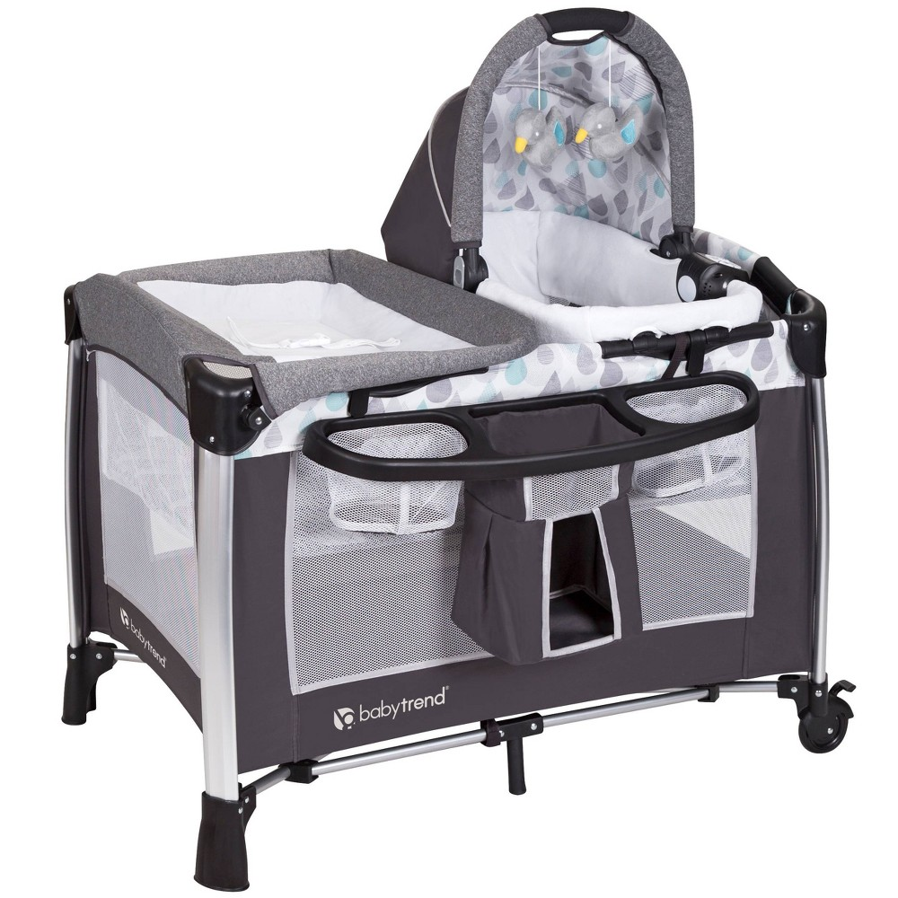 Image of Baby Trend Go Lite ELX Nursery Center - Drip Drop Blue