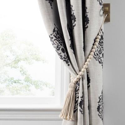 Nomad Decorative Wooden Fringe Tassel Window Curtain Tieback - Elrene Home Fashions