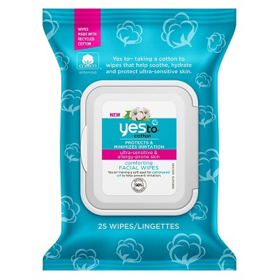 Facial Cleansing Wipes: Yes To Cotton Facial Wipes