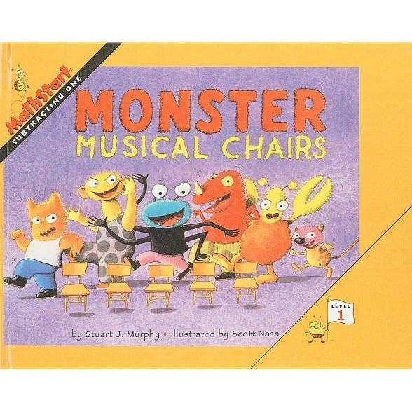 Astounding Monster Musical Chairs Mathstart Level 1 Prebound By Stuart J Murphy Hardcover Theyellowbook Wood Chair Design Ideas Theyellowbookinfo