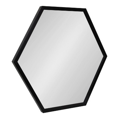 "24"" x 26"" Laverty Hexagon Wall Mirror Black - Kate & Laurel All Things Decor"