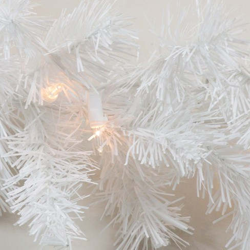 Northlight 50 X 10 Prelit Commercial Length Snow White Christmas Garland Clear Lights