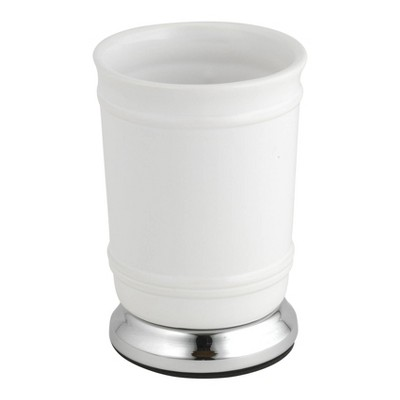 Isabella Bathroom Tumbler White/Chrome - Popular Bath