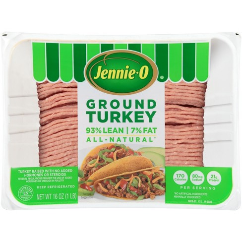 Jennie-O All-Natural 93/7 Ground Turkey - 16oz - image 1 of 4
