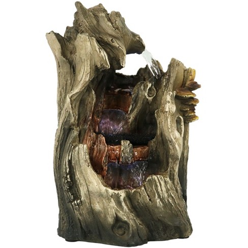 """Sunnydaze Indoor Home Decorative Cascading Caves Waterfall Tabletop Water Fountain with LED Lights - 14"""" - image 1 of 4"""
