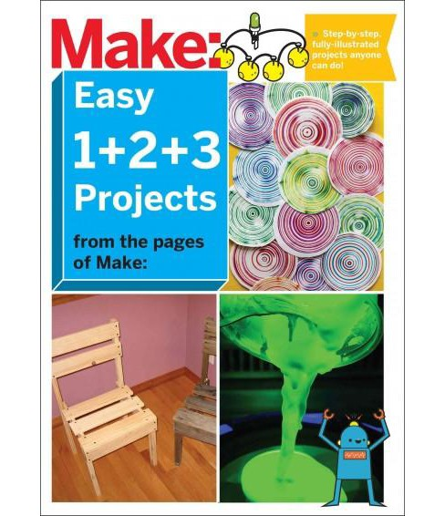 Make: Easy 1+2+3 Projects : From the Pages of Make (Paperback) - image 1 of 1