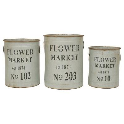 Round Metal Buckets (S-3 18-1-4 )