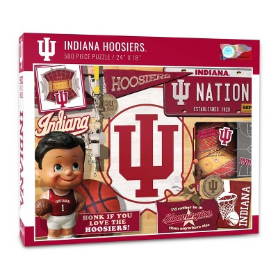 NCAA Indiana Hoosiers Throwback Puzzle 500pc