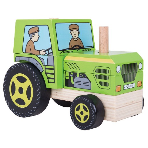 Bigjigs Toys Stacking Tractor Wooden Developmental Toy (5pc) - image 1 of 2