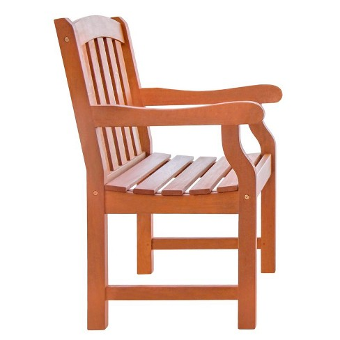 Cool Wood Outdoor Ward Armchair In Brown Pemberly Row Pabps2019 Chair Design Images Pabps2019Com