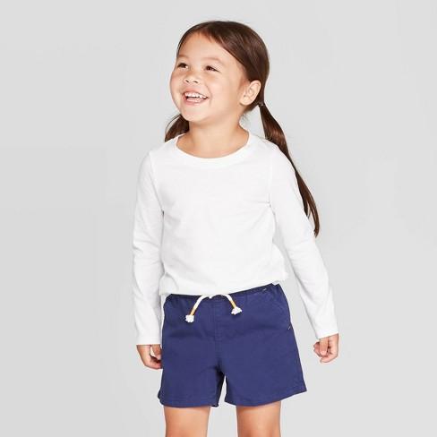 Toddler Girls' Long Sleeve T-Shirt - Cat & Jack™ White - image 1 of 3
