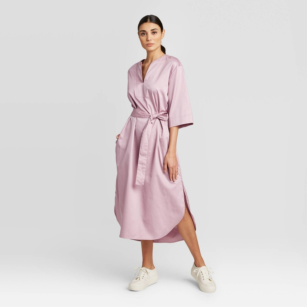 Women's 3/4 Sleeve V-Neck Midi Dress - Prologue Pink S was $34.99 now $24.49 (30.0% off)