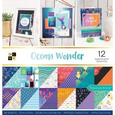 "DCWV Double-Sided Cardstock Stack 12""X12"" 36/Pkg-Ocean Wonder, 18 Designs/2 Each"