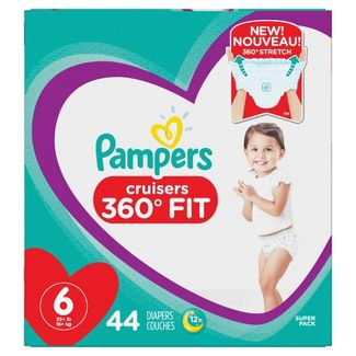 Pampers Cruisers 360 Disposable Diapers Super Pack - Size 6 (44ct)