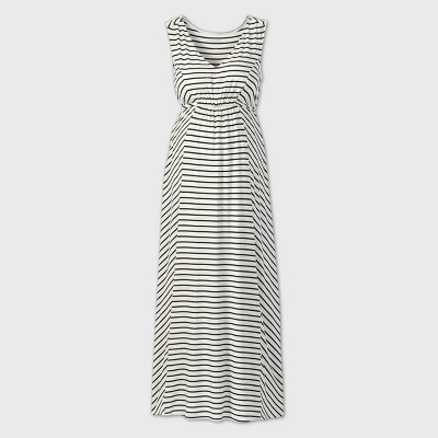 Striped Tank Maternity Dress - Isabel by Ingrid & Isabel™ Black/White L