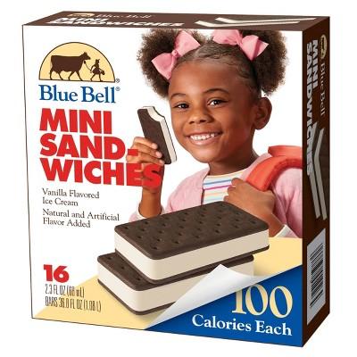 Blue Bell Mini Ice Cream Sandwiches - 36.8oz/16ct