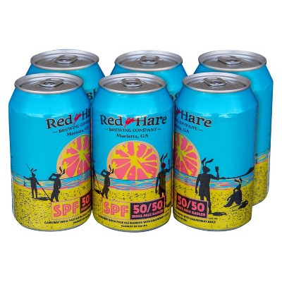 Red Hare SPF 50/50 Radler Beer - 6pk/12 fl oz Cans