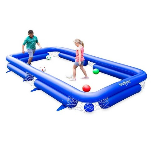 HearthSong Inflatable Soccer Pool Backyard Game for Kids and Adults, Includes Seven Inflatable Balls - image 1 of 4