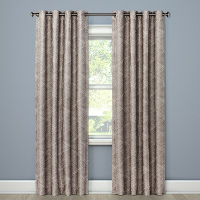 "84""x50"" Blackout Curtain Panel Modern Stroke Tan - Project 62™"