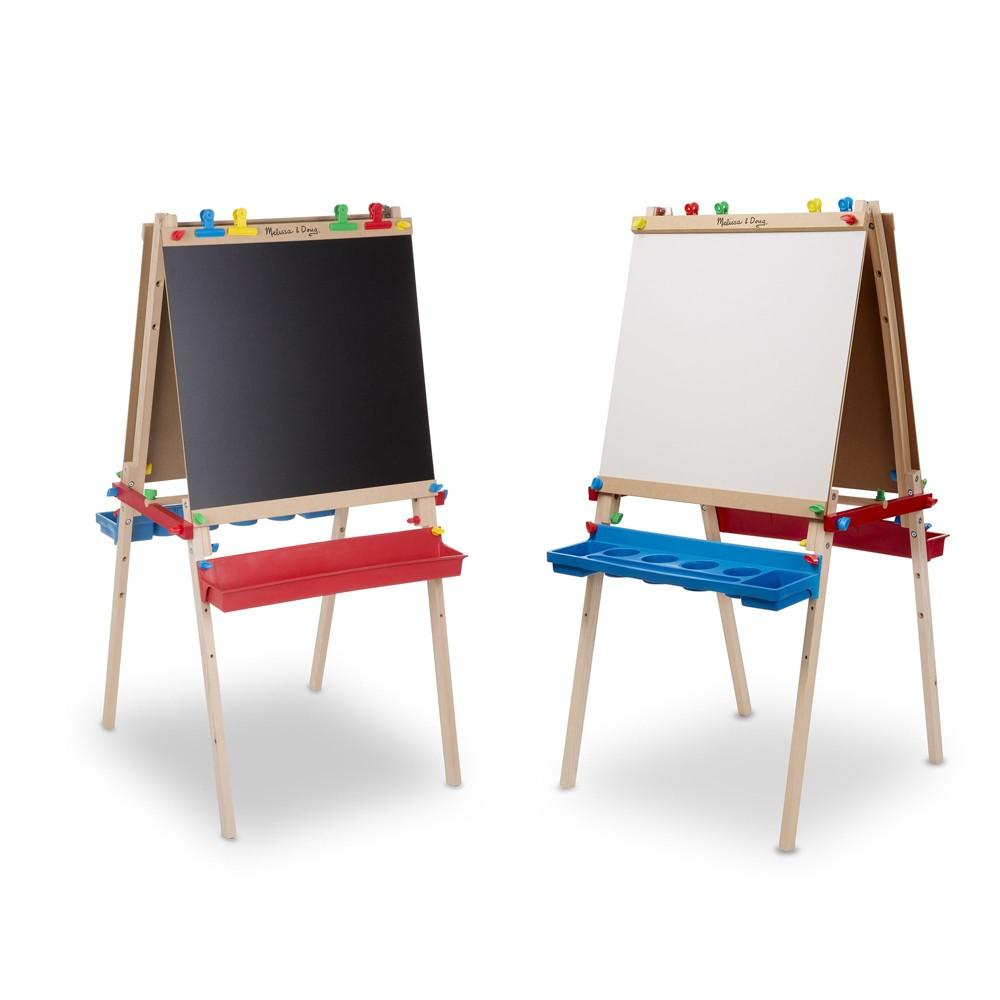 Melissa 38 Doug Deluxe Standing Art Easel Dry Erase Board Chalkboard Paper Roller