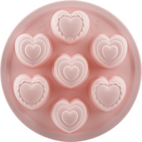 Silicone Mini Heart Baking Pan Pink - Trudeau - image 1 of 2